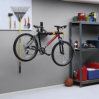Bicycle and Ski Carrier Wall Mount, Includes Bracket, Plate and