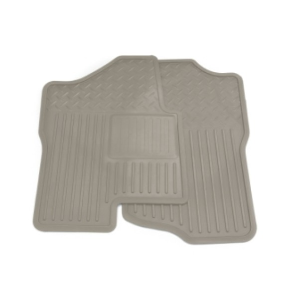 Floor Mats, Front, Titanium, Vinyl Replacements, Extended and Crew Cab