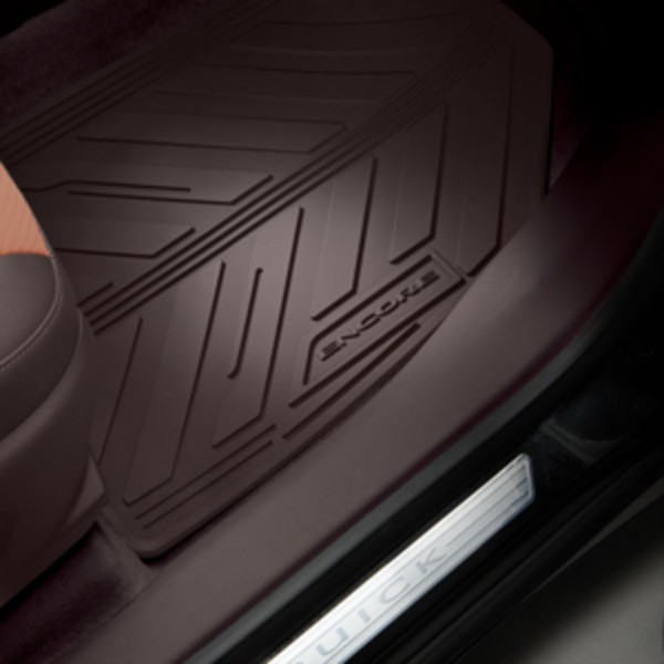2015 Encore All Weather Floor Mats, Front and Rear, Cocoa