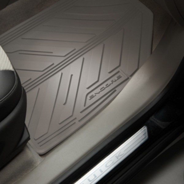 2015 Encore All Weather Floor Mats, Front and Rear, Titanium