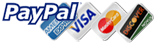 We Accept Visa, Mastercard, Discover, American Express and PayPa
