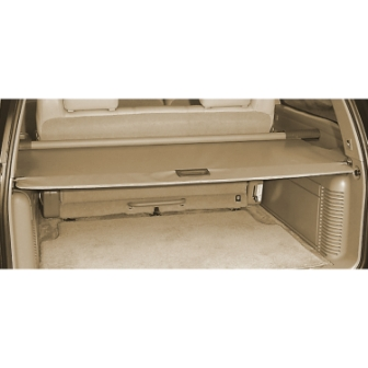 2014 Yukon Denali Cargo Security Shade, Light Cashmere, with Power Liftgate