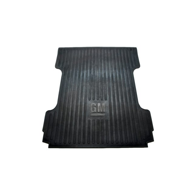2014 Sierra 3500 Bed Mat, Black Rubber Mat, GM Logo, 6ft 6inch Standard Box