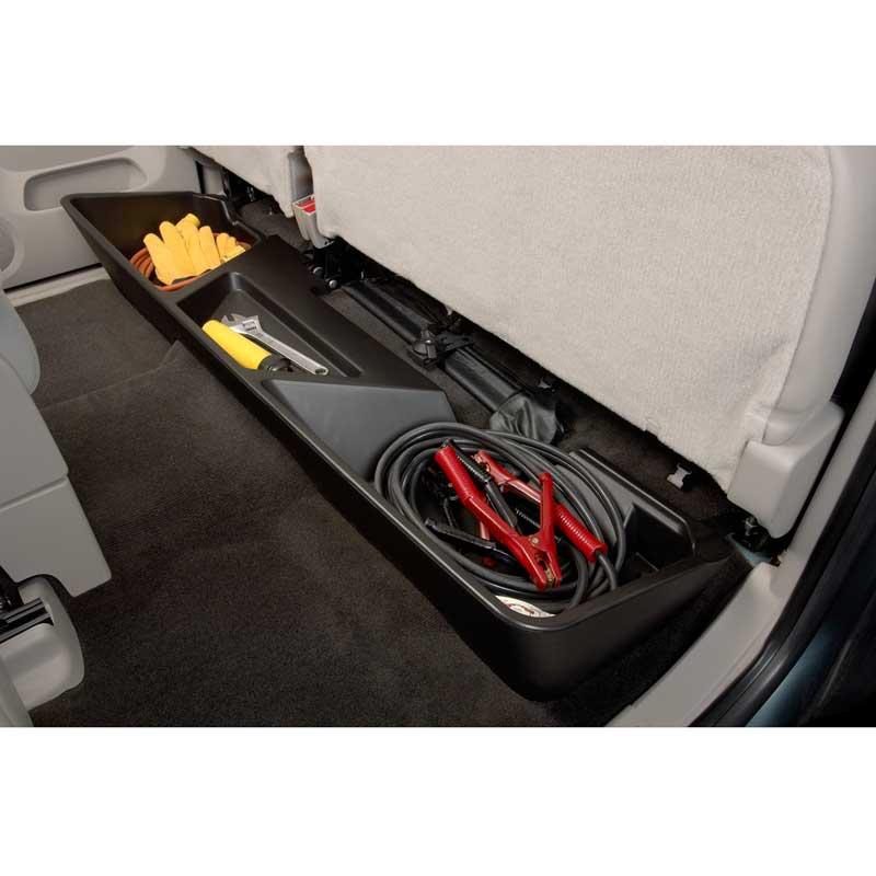 2013 Sierra 1500 Rear Underseat Storage Organizer, Ebony, Extended Cab, ShopGMCParts.com