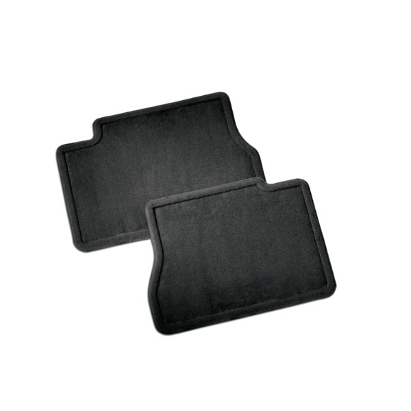 Floor Mats - Carpet Replacements - Second Row Set, Ebony w/o Log