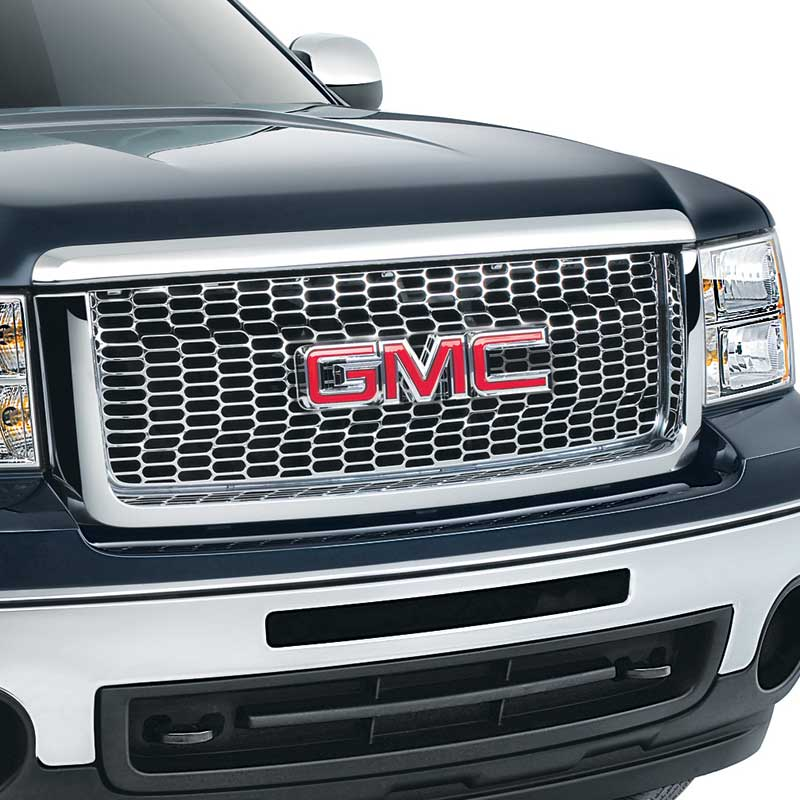 2013 Sierra Grille, Oval Pattern, For Use on Light Duty Models, Chrome