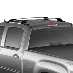 2013 Sierra 1500 Roof Rack Side Rails, Black, Crew Cab