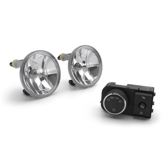Fog Lamps - Clear Lens, Gray Housing, 24 Watt Lamp