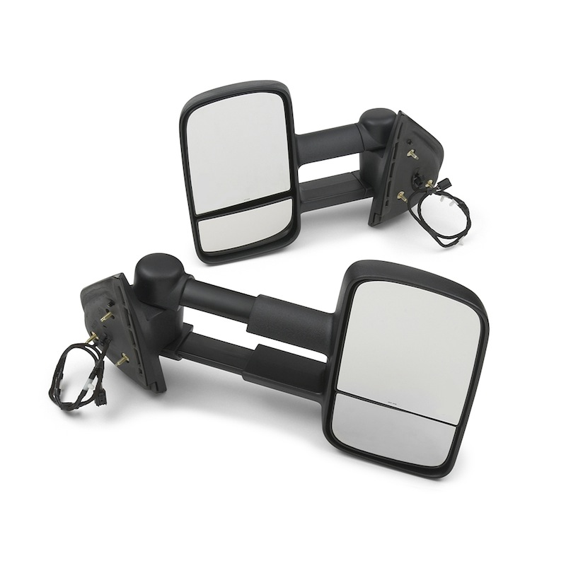 Outside Rear View Mirrors, Extendable, Heated, Power-Adjustable