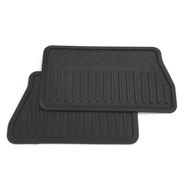 2014 Yukon Denali XL Floor Mats Rear Vinyl Replacement 2nd Row 2 Piece, Ebony