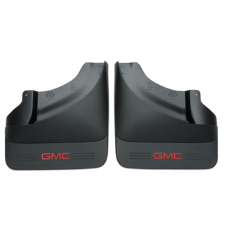 Splash Guards, Black w/ Red GMC Logo, Dually ONLY
