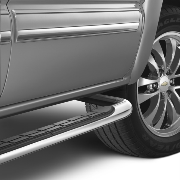 Sierra Crew Cab Assist Steps - 3 inch Round, Chrome