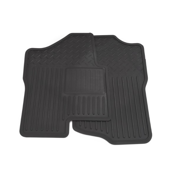 2014 Sierra 3500 Floor Mats Front Vinyl Replacement, with Rear Power Take Off (M1F), Ebony
