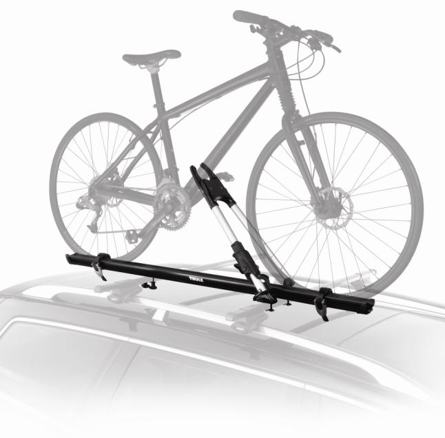 2013 Acadia Roof-Mounted Bicycle Carrier - Wheel Mount - Thule Big Mouth Up