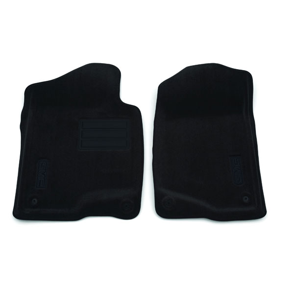 2013 Sierra 1500 Floor Mats, Front Molded Carpet, Ebony