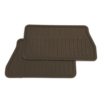 2014 Sierra 1500 Rear Floor Mats, Vinyl Replacement, Double Cab, Cocoa