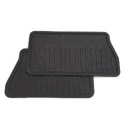 2014 Sierra 1500 Rear Floor Mats, Vinyl Replacement, Double Cab, Ebony