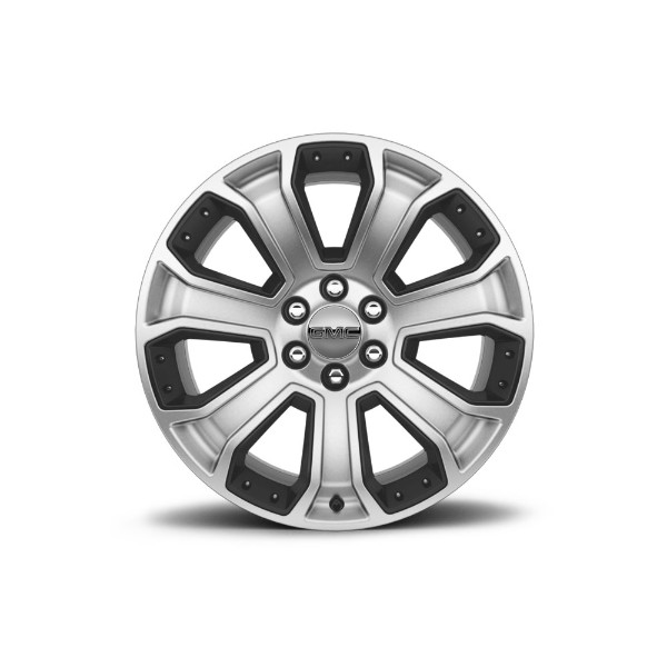 2016 Sierra 1500 22 Inch Wheel 7 Spoke Silver with Black Inserts CK164 RX1