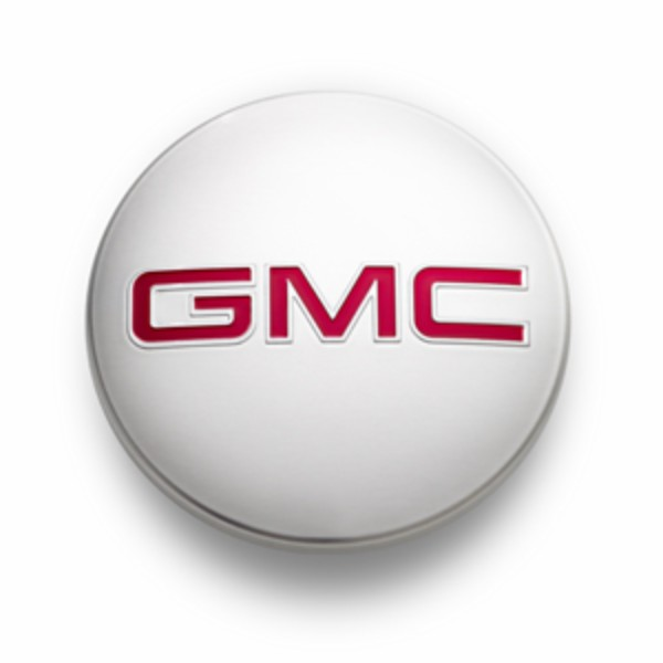 2016 Yukon Denali XL Center Cap, Bright Aluminum Red GMC logo - SINGLE