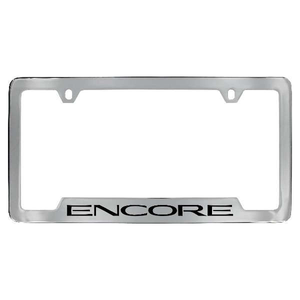 2017 Encore License Plate Frame, Chrome with Encore Logo