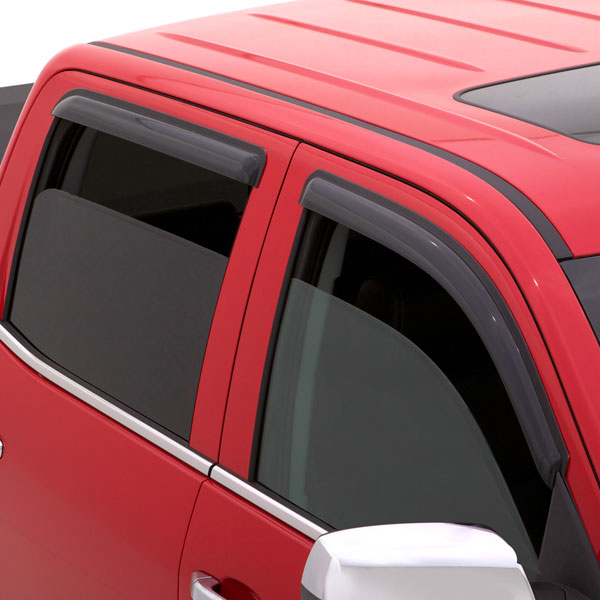 2015 Sierra 3500 Side Window Weather Deflectors, Double Cab, Smoke