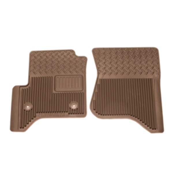 2014 Sierra 1500 Front Floor Mats, Vinyl Replacements, Cocoa