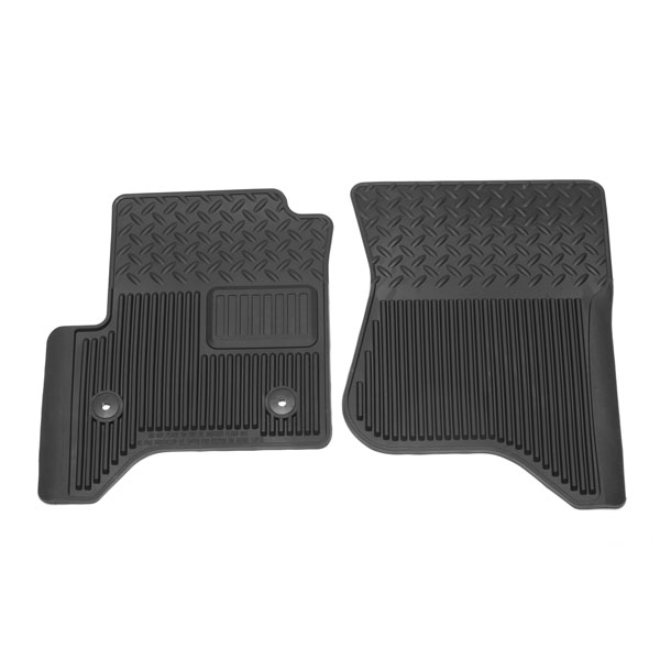 2014 Sierra 1500 Front Floor Mats, Vinyl Replacements, Black