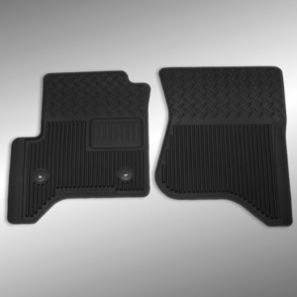 2014 Sierra 1500 Floor Mats Front Vinyl Replacement, Black