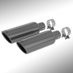2015 Yukon Cat Back Exhaust Tips, Black Chrome