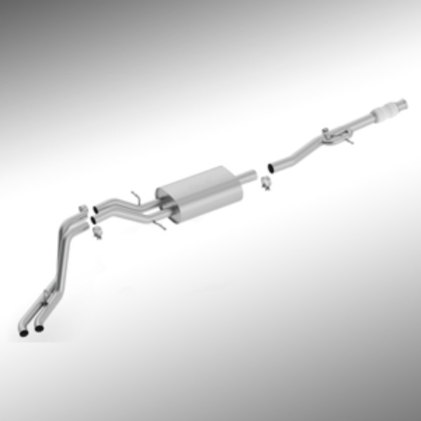 2016 Yukon Cat Back Exhaust System, 5.3L Dual Side Exit