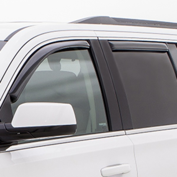 2016 Yukon XL Side Window Weather Deflector, Smoke Black