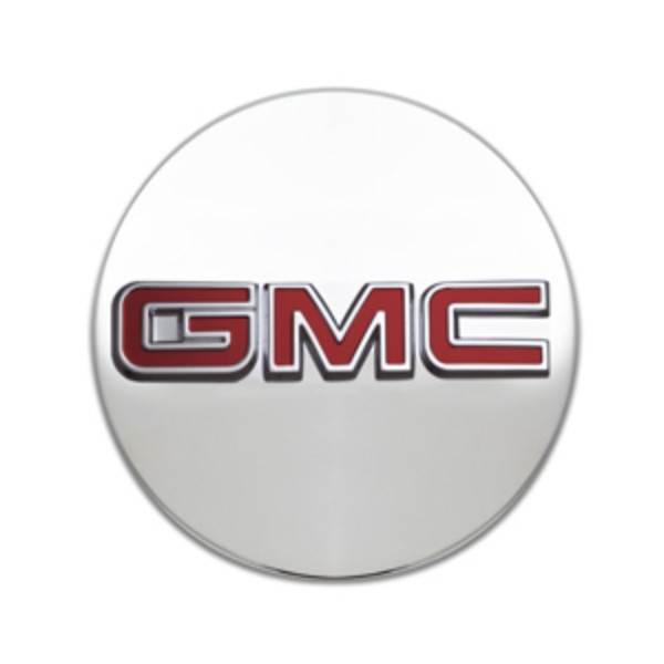 2017 Acadia DENALI Center Caps, Red GMC Logo, Brushed, Set of 4