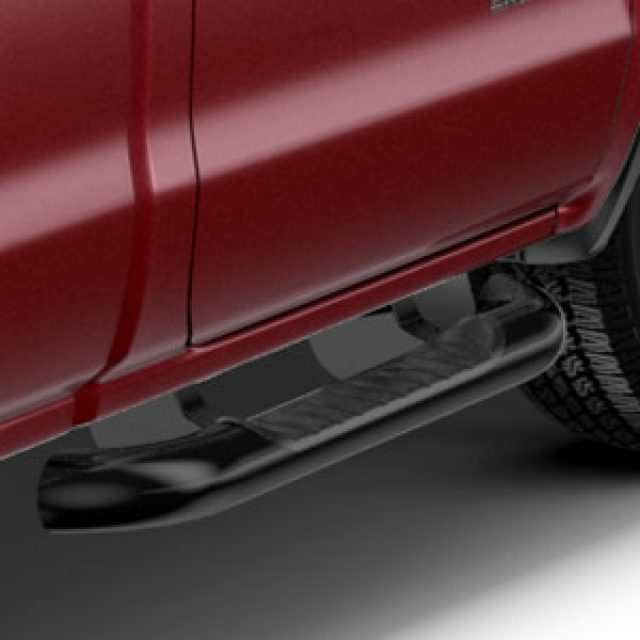 2016 Sierra 1500 Assist Steps, 4 inch Round, Regular Cab, Black