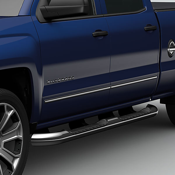 2015 Sierra 2500 Double Cab Assist Steps, 4 Inch Round
