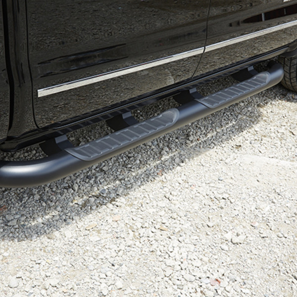2015 Sierra 2500 Double Cab Assist Steps, 4 inch Round, Black