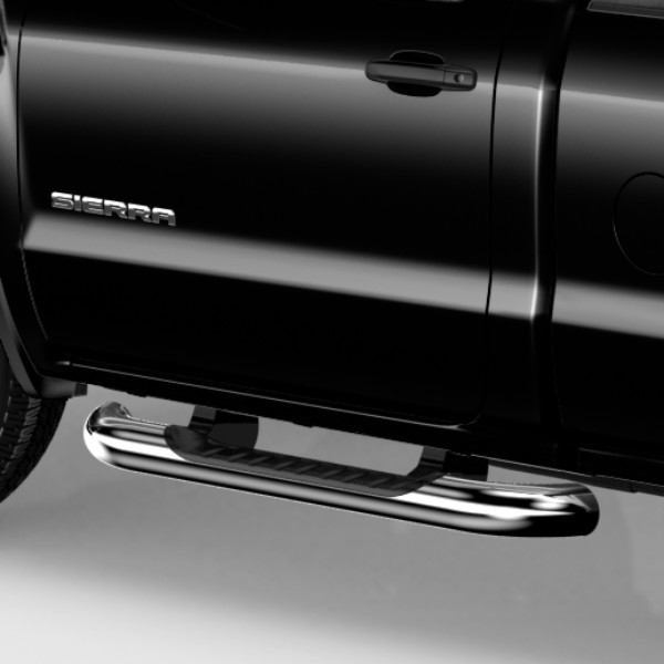 2016 Sierra 1500 Assist Steps, 4 inch Round, Crew Cab, Chrome