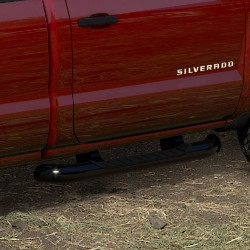 2016 Sierra 1500 Assist Steps, 4 inch Round, Crew Cab, Black