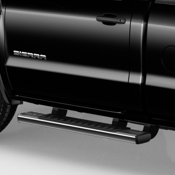 2016 Sierra 1500 Assist Steps, 6 inch Rectangular, Black, Regular Cab