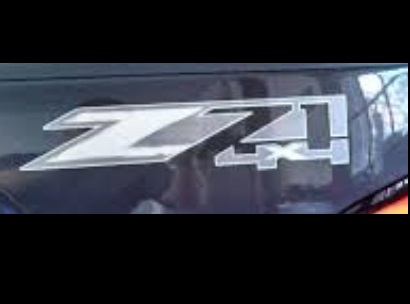 2015 Sierra 1500 Z71 4 X 4 Decal, Chrome Colored