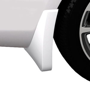 2015 Verano Splash Guards, Rear Molded, Summit White (GAZ)
