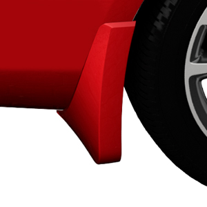 2015 Verano Splash Guards, Rear Molded, Crystal Red (GBE)