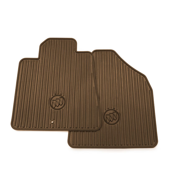 2015 Enclave Floor Mats Front Premium All Weather Cocoa