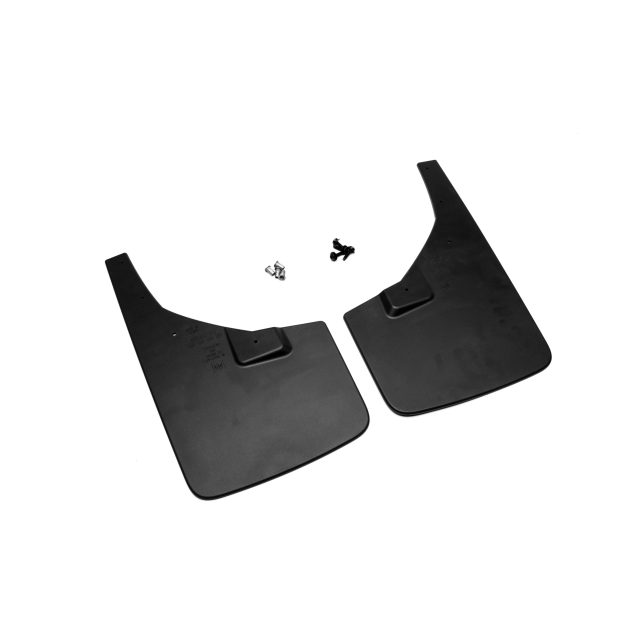2015 Sierra 2500 Splash Guards, Front Flat, Black