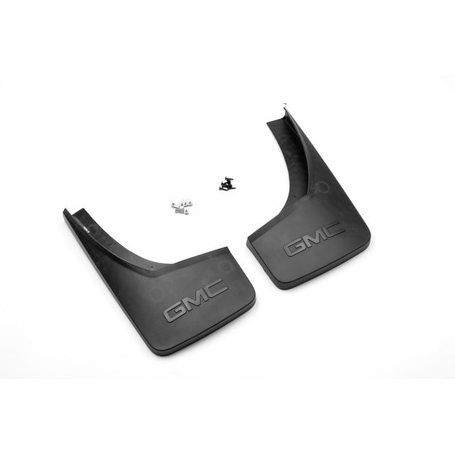 2015 Sierra 1500 Splash Guards, Molded Rear, Black Grained
