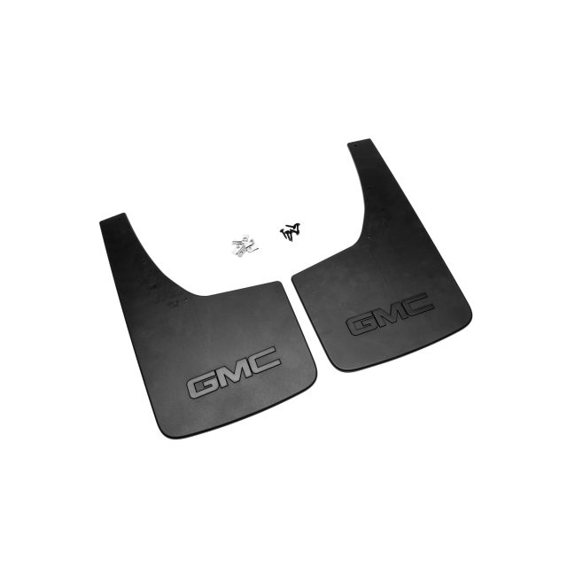 2015 Sierra 1500 Splash Guards, Rear Flat, Black GMC Logo