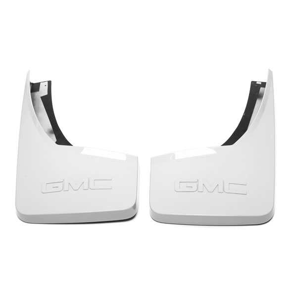 2015 Sierra 3500 Splash Guards, Rear Molded, White Diamond, GMC Logo