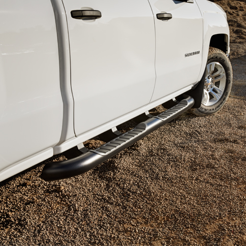 2016 Sierra 3500 Double Cab Assist Steps, 4 inch Round, Black, Dies