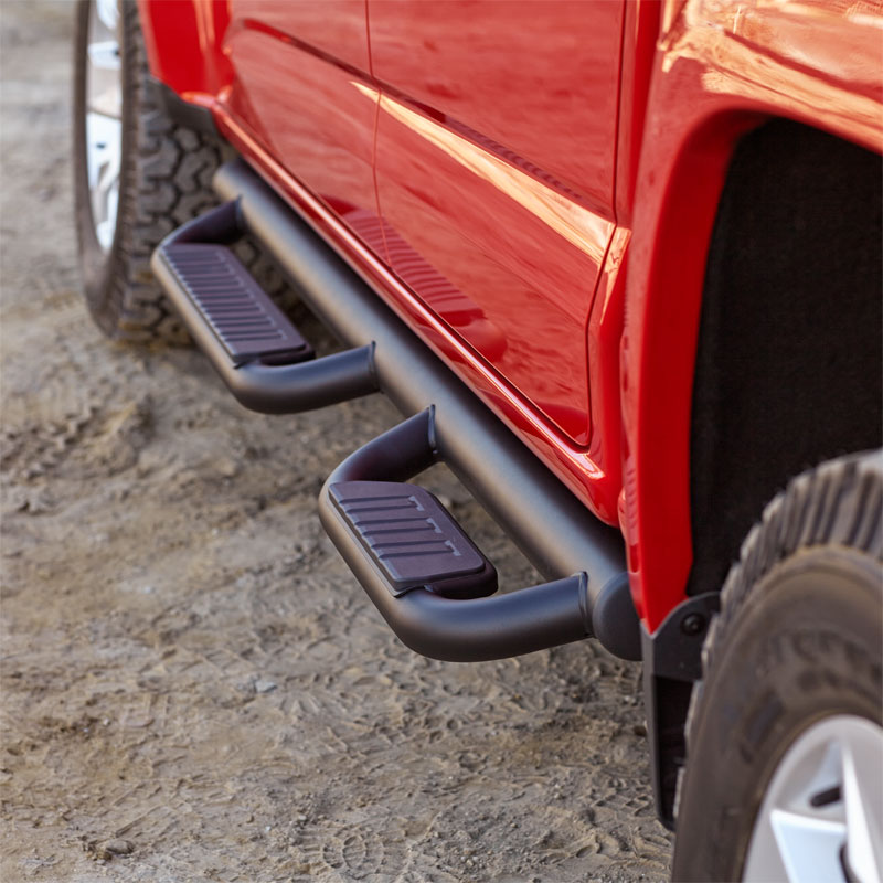 2018 Canyon Crew Cab Assist Steps, 3 inch Step Bars, Black