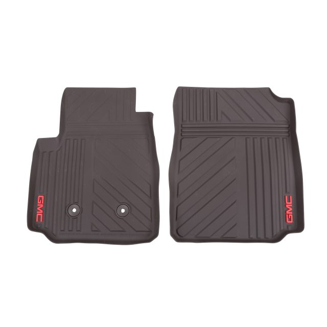 2016 Canyon Floor Mats Front Premium All Weather, GMC Logo, Cocoa