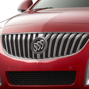 2016 Buick Regal Grille, Silver and Bright Chrome